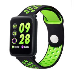 M28 Smart Watches Women Men Swimming Heart Rate Monitor Fitness Tracker Smartwatch For Android IOS green & black one size
