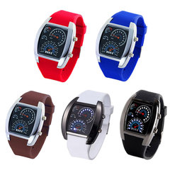 Arken Fashion Women Men Watches Unique LED Digital Watch Women Watches Electronic Sport Watches brown