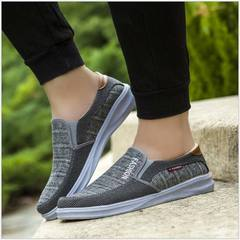 2019 Summer Slip-On Canvas Sneakers Men Shoes Loafers Comfortable Lightweight Casual Male Shoes grey 39