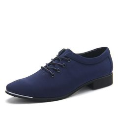 NEW Men Formal Wedding Shoes Luxury Men Business Dress Shoes Men Loafers Pointy Shoes blue 44