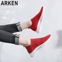 Arken New Hot Sale 2019 Comfortable Breathable Lightweight Casual Shoes Sports Women's Coconut Shoes red 35