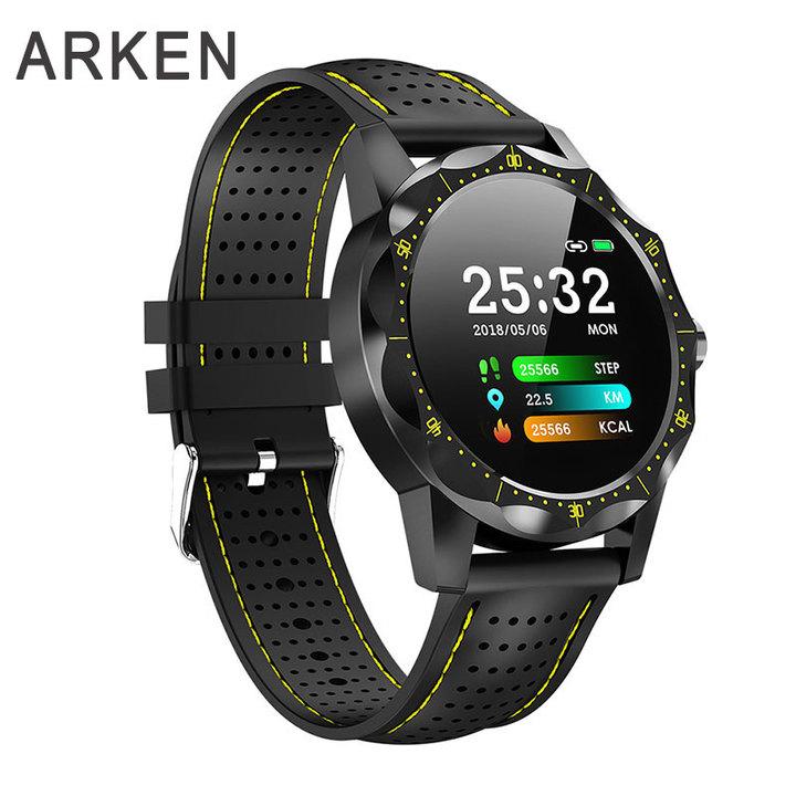 1PCS Smart Watch IP68 Waterproof Activity Tracker Smartwatch Men Women Clock BRIM for Android IOS green & black one size