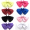 Fashion Women's Solid Butterfly Bow Ties Double Deck Smooth Adjustable Length Satins Collar Isignina black