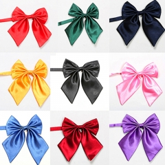 Women's Solid Colour Butterfly Bow Ties For Office Adjustable Length Girl's Collar Isignina Bowties dark green