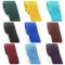 Men's Slim Square End Solid Colour Knitting Neckties Women's Narrow Skinny Kintted Small Ties Adult black