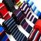 Men's Slim Square End Knitting Neckties Girl's Narrow Skinny Striped Kintted Small Ties For Young C8
