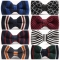 Fashion Men's Butterfly Knitting Bow Ties Adjustable Length Collar Isignina Striped Knitted Bowties a1