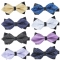 Men's Plaid Tip Bow Ties Adult Adjustable Length Young Girl's One Piece Colour Striped Small Bowies a1