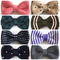 Men's Butterfly Double Deck Knitting Bow Ties Adjustable Length Striped Dot One Knitted Bowties e8