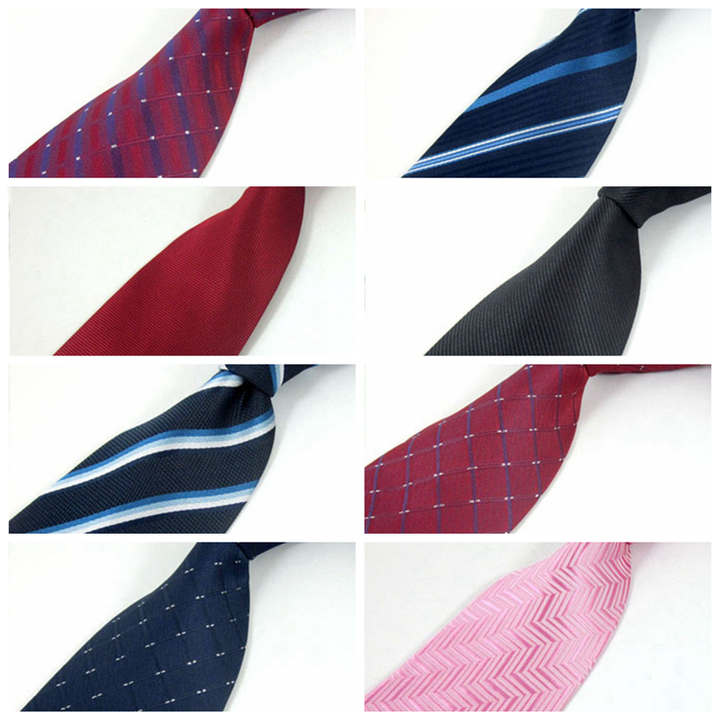 Fashion Accessories Men's Slim Neckties For Adult Hand Make Office Business Striped Neck Ties a1