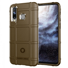 Hot Sale Samsung Galaxy A8S Case Rugged Shield Silicone Heavy Duty Armor Shock-Proof Phone Case brown for Samsung Galaxy A8S Smartphone