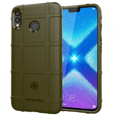 Hot Sale Huawei Honor 8X Smartphone Silicone Heavy Duty [Drop-Protection] Protective Case amygreen for Huawei Honor 8X Smartphone