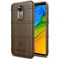 Hot Sale Xiaomi Redmi 5 Smartphone Silicone Heavy Duty [Drop-Protection] Protective Case brown for Xiaomi Redmi 5