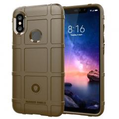Hot Sale Xiaomi Redmi Note 6 / Note 6 Pro Case Silicone Heavy Duty [Drop-Protection] Protective Case brown for Xiaomi Redmi Note 6 / Note 6 Pro