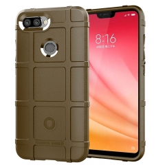 Hot Sale Xiaomi Mi 8 Lite / 8 Youth Case Silicone Heavy Duty [Drop-Protection] Protective Case brown for Xiaomi Mi 8 Lite / 8 Youth