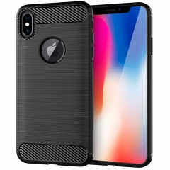 Shinwo iPhone X / iPhone 10 5.8-Inch Case Carbon Fiber Soft TPU Shockproof Protective Case black for iPhone X / iPhone 10 5.8-Inch