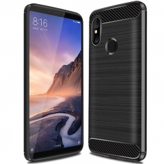 Xiaomi Mi Max 3 / Max 3 Pro Case Textured Carbon Fiber Soft TPU Shockproof Protective Case black for Xiaomi Mi Max 3 / Max 3 Pro