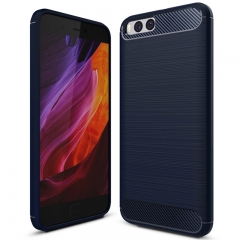 Xiaomi Mi Note 3 Smartphone Case Textured Carbon Fiber Soft TPU Shockproof Protective Case blue for Xiaomi Mi Note 3