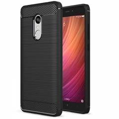 Redmi Note 4 / Note 4X Smartphone Case Textured Carbon Fiber Soft TPU Shockproof Protective Case black for Redmi Note 4 / Note 4X Smartphone