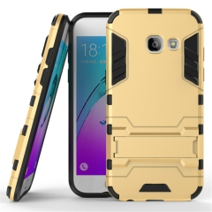Shinwo Samsung Galaxy A3 (2017) Smartphone Case Rugged Armor [Drop-protection] with Kickstand sliver for Samsung Galaxy A3 (2017) Smartphone