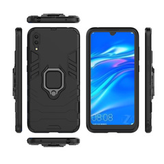 Huawei Y7 Pro 2019 (Enjoy 9 2019) Case Rugged Armor [Drop-protection] with Car Magnetic Ring Holder black for Huawei Y7 Pro 2019 (Enjoy 9 2019)
