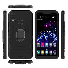 Huawei Nova 3i / P Smart Plus Case Rugged Armor [Drop-protection] with Car Magnetic Ring Holder black for Huawei Nova 3i / P Smart Plus