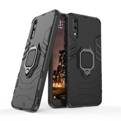 Hot Sale Shinwo Huawei P20 Case Rugged Armor [Drop-protection] with Car Magnetic Ring Holder black for Huawei P20
