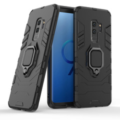 Shinwo Samsung Galaxy S9 Plus Case Rugged Armor [Drop-protection] with Car Magnetic Ring Holder black for Samsung Galaxy S9 Plus