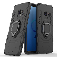 Shiwno Samsung Galaxy S9 Case Rugged Armor [Drop-protection] with Car Magnetic Ring Holder black for Samsung Galaxy S9