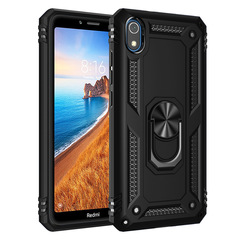 Hot Sale Phone Case for Xiaomi Redmi 7A [Drop-protection] with Car Magnetic Ring Holder black for Xiaomi Redmi 7A
