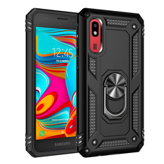 Hot Sale Phone Case for Samsung Galaxy A2 Core [Drop-protection] with Car Magnetic Ring Holder black for Samsung Galaxy A2 Core