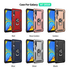 Hot Sale Phone Case for Samsung Galaxy A7 2018 [Drop-protection] with Car Magnetic Ring Holder black for Samsung Galaxy A7 2018