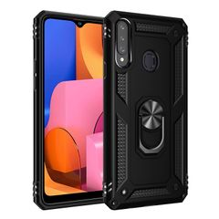 Hot Sale Phone Case for Samsung Galaxy A20S [Drop-protection] with Car Magnetic Ring Holder black for Samsung Galaxy A20S