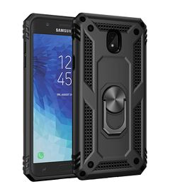 Case for Samsung Galaxy J3 2018 Galaxy J7 2018 [Drop-protection] with Car Magnetic Ring Holder black for Samsung Galaxy J3 2018