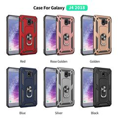 Phone Case for Samsung Galaxy J4 2018 Casing [Drop-protection] with Car Magnetic Ring Holder gold for Samsung Galaxy J4 2018
