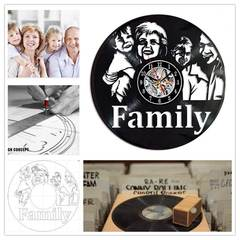 MCDFL Customized Gifts Design Photos or Text Vinyl Record Clock Personalized Gift Vinyl Wall Clock