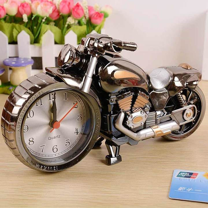 MCDFL Motorcycle Alarm Clock Home Decorators Desk Clock Student Table Clock Kids Birthday Gift Ideas