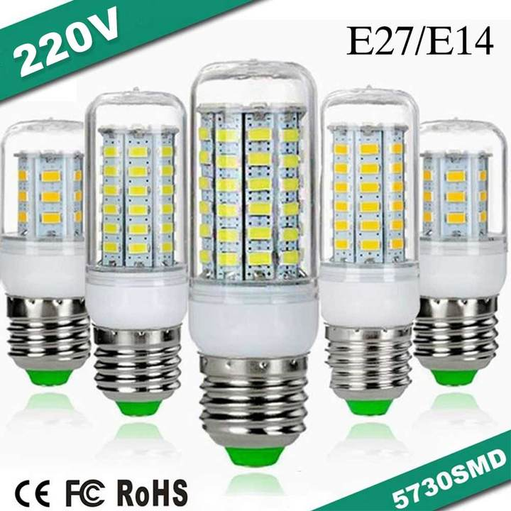 MCDFL E27/E14 LED Bulb LED Lamp Corn Light 220V Corn Bulb Smart IC LED Light for Home Garden Bedroon Warm White E27 36 leds