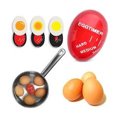 MCDFL Kitchen Gadget Egg Timer Colour Changing Egg Perfect Boiled Egg Timer Thermometer Kitchen Tool Red As picture