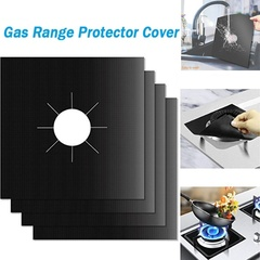 MCDFL Reusable Gas Range Stovetop Burner Protector  Burner Cover Gas Stove Protector Kitchen Tools Black 2 Pcs