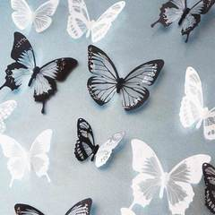 MCDFL 72 Pcs/4 Set 3D Crystal Butterflies Wall Sticker Butterfly Stickers Kids Room DIY Home Decor Multicolor 72 Pcs/4 Set