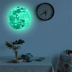 MCDFL Luminous Moon Stickers Glow In The Dark 3D Wall Sticker Decal Kids Room Bedroom DIY Home Decor As picture 20 cm