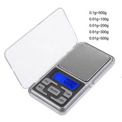 MCDFL Mini Precision Digital Weight Scales Electric Pocket Scales Gold Silver Jewelry Weight Balance 0.01g-500g One size