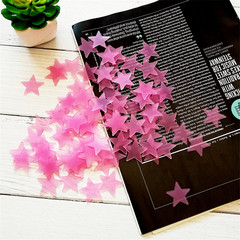 MCDFL 300pcs Glow in the Dark Toys Luminous Star Stickers Kids Room Bedroom Fluorescent Wall Sticker Pink 300 PCS