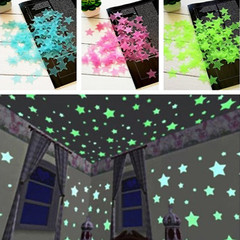 MCDFL 300pcs Glow in the Dark Toys Luminous Star Stickers Kids Room Bedroom Fluorescent Wall Sticker Multicolor 300 PCS