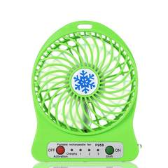 MCDFL Portable Rechargeable LED Light Summer Mini Fan 3 Mode Speed USB Fan Air Cooler Table Desk Fan Green