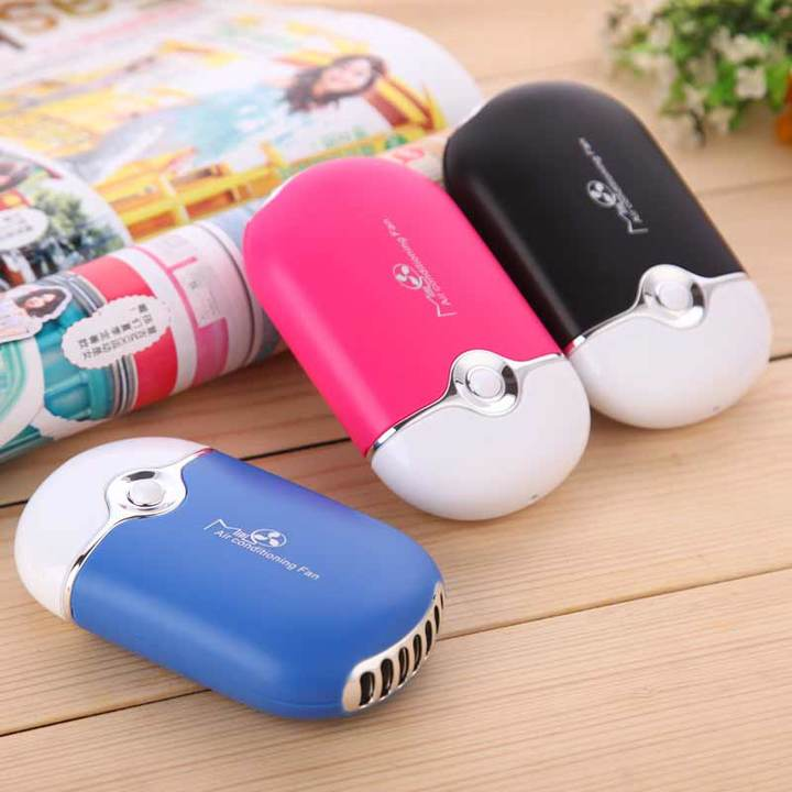 MCDFL Mini Portable Handheld Desk Air Conditioner USB Rechargeable Cooling Fan Humidifier Air Cooler black