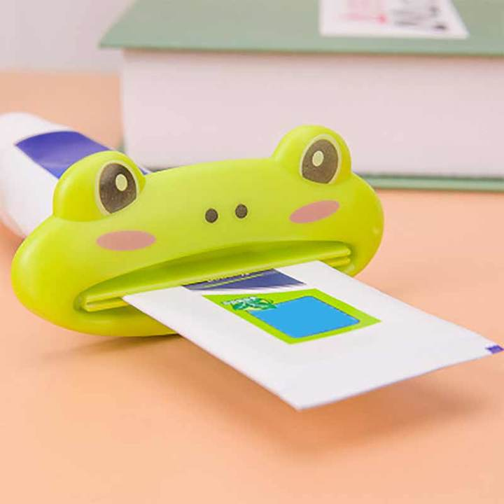 MCDFL 6 In 1 Cartoon Multifunction Squeezer Toothpaste Dispenser Bathroom Home Tube Rolling Holder Multicolor 6 In 1