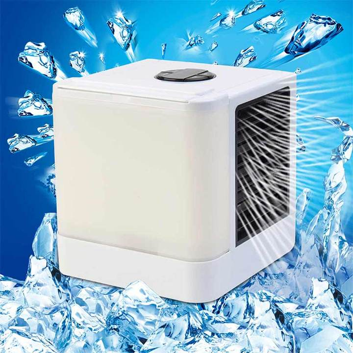MCDFL USB Portable Mini Air Conditioner Fan Home Office Desk Personal Space Humidifier Cooling Fans LED  Indicator  Light