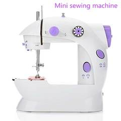 MCDFL Mini Electric Handheld Sewing Machine Foot Pedal Speed Adjustment with Light + Free Sewing Kit As picture